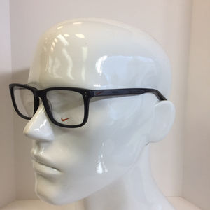 aefa811f13 Nike 7238 002 matte black plastic Eyeglasses 54mm